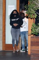 ENIKO PARRISH Leaves Soho House in Malibu 04/16/2021