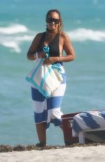 EVELYN LOZADA and SHANIECE HAIRSTON in Swimsuits at a Beach in Miami 04/28/2021
