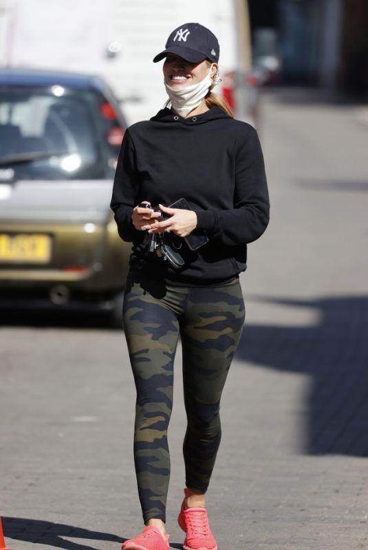 FERNE MCCANN in Tights Leaves a Nail Salon in Essex 04/14/22021