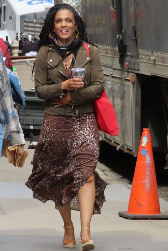 FREEMA AGYEMAN on the Set of New Amsterdam in New York 04/19/2021