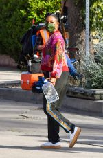 GABRIELLE UNION Leaves Cheaper by the Dozen Set in Los Angeles 04/15/2021