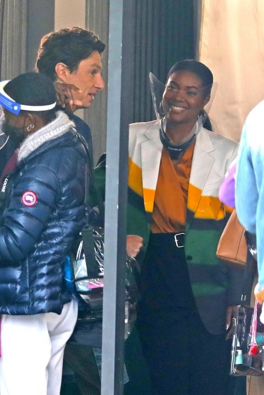 GABRIELLE UNION on the Set of Cheaper by the Dozen Reboot in Los Angeles 04/13/2021