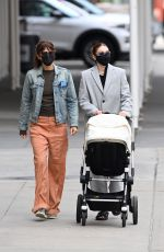 GIGI HADID and HELENA CHRISTENSEN Out in New York 04/13/2021