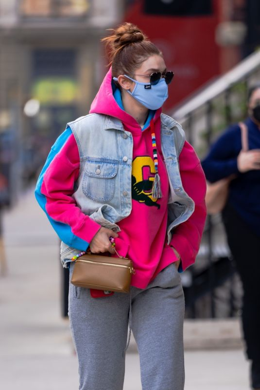 GIGI HADID Out and About in New York 04/20/2021