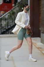GIGI HADID Out in New York 04/21/2021