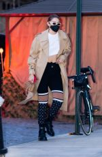 GIGI HADID Out in New York 04/27/2021