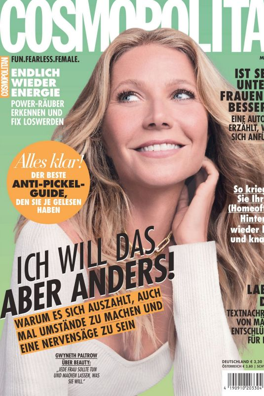 GWYNETH PALTROW in Cosmopolitan Magazine, Germany May 2021