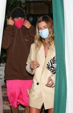 HAILEY and Justin BIEBER at San Vicente Bungalows in West Hollywood 03/31/2021