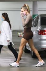 HAILEY BIEBER Arrives at an Appointment in Los Angeles 04/02/2021