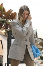 HAILEY BIEBER Arrives for a Meeting in Los Angeles 04/20/2021