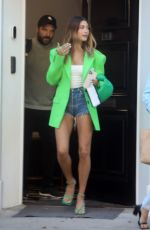 HAILEY BIEBER Heading to a Business Meeting in Beverly Hills 04/19/2021