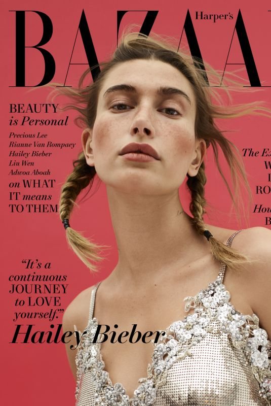 HAILEY BIEBER on the Cover of Harper's Bazaar, May 2021
