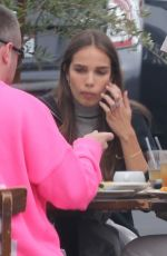 HANA CROSS Out for Lunch with Friends in Los Angeles 04/22/2021
