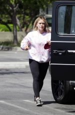 HILARY DUFF Out and About in Los Angeles 04/10/2021