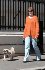 ICOLA ROBERTS Out with Her Dogs in London 04/22/2021