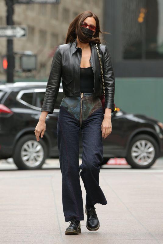 IRINA SHAYK Out in New York 04/27/2021