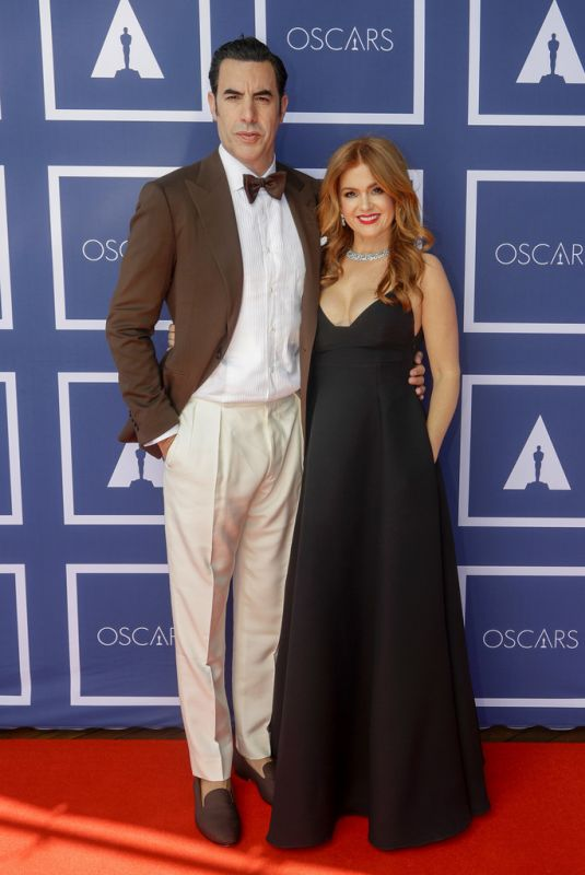 ISLA FISHER and Sacha Baron Cohen at 93rd Annual Academy Awards in Los Angeles 04/25/2021