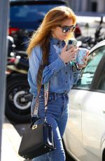 ISLA FISHER in Double Denim at White Rabbit Cafe in Double Bay 04/13/2021