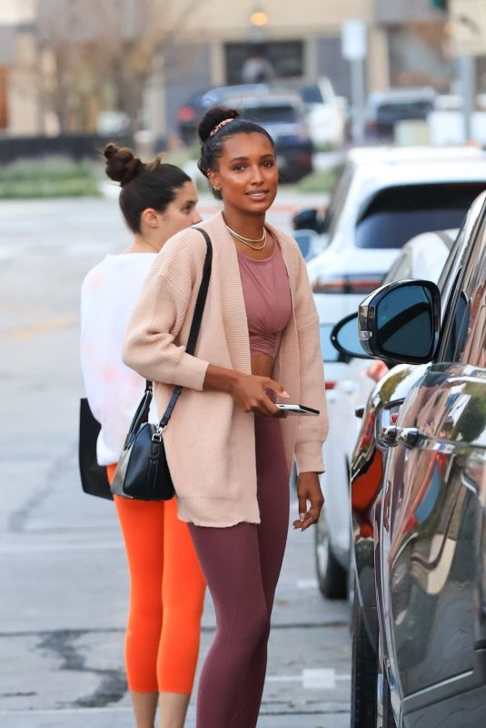 JASMINE TOOKES and SARA SAMPAIO Leaves Dogpound Gym in West Hollywood 04/12/2021