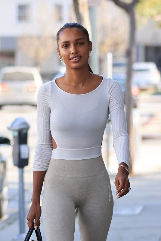 JASMINE TOOKES Heading to a Gym in Los Angeles 04/20/2021