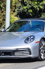 JENNIFER ANISTON Out Driving in Her Porsche 911 Targa in West Hollywood 04/06/2021