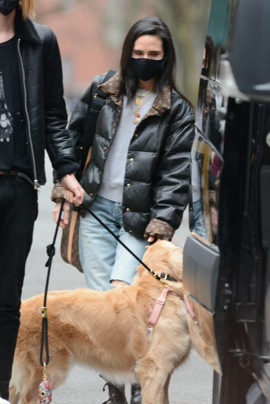 JENNIFER CONNELLY Out with Her Dog in New York 04/18/2021