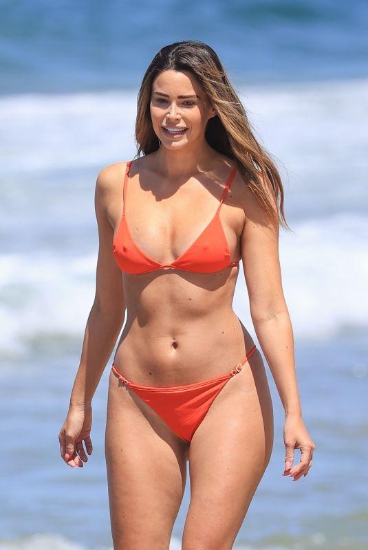 JENNIFER LAHMERS in Bikini at a Beach in Los Angeles 04/19/2021
