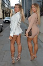 JESS and EVE GALE Leaves Toy Roof Garden in London 04/17/2021