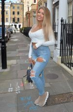 JESS GALE Heading to a Roof-top Party in London 04/18/2021