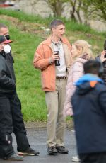 JESSICA CHASTAIN and Eddie Redmayne on the Set of The Good Nurse in Stamford 04/18/2021