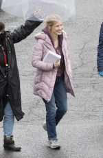 JESSICA CHASTAIN on the Set of The Good Nurse in New York 04/17/2021