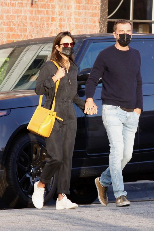 JORDANA BREWSTER and Mason Morfit Out for Morning Coffee in Brentwood 04/05/2021