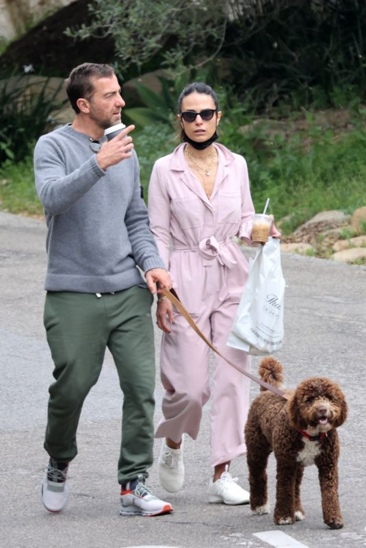 JORDANA BREWSTER and Mason Morfit Out with Their Dog in Brentwood 04/03/2021