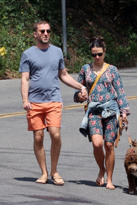 JORDANA BREWSTER and Mason Morfit Out with Their Dog in Brentwood 04/05/2021