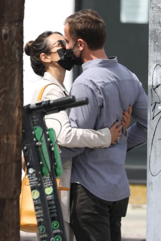 JORDANA BREWSTER and Mason Out Kissing in West Hollywood 04/06/2021