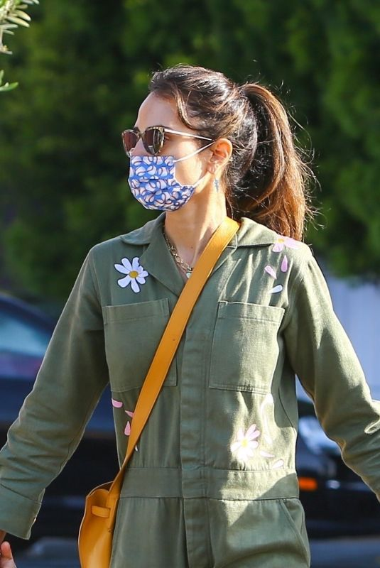 JORDANA BREWSTER Out for Breakfast in Brentwood 04/16/2021