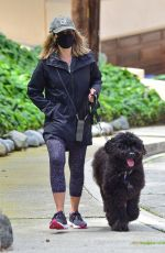 JULIE BENZ Out with her Dog in Beverly Hills 04/13/2021