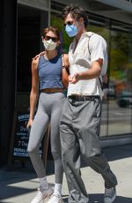 KAIA GERBER and Jacob Elordi Out for Lunch in Los Feliz 04/7/2021