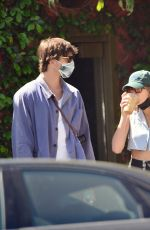 KAIA GERBER and Jacob Elordi Out in Los Angeles 04/03/2021