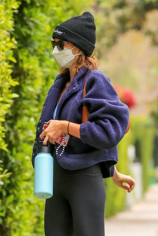 KAIA GERBER Arrives at a Pilates Class in Los Angeles 04/13/2021