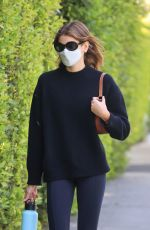 KAIA GERBER Heading to Pilates Class in West Hollywood 04/16/2021