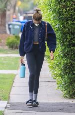 KAIA GERBER Heading to Pilates Class in West Hollywood 04/22/2021