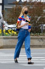 KARLIE KLOSS Out and About in New York 04/09/2021