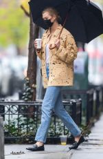 KARLIE KLOSS Out for Coffee in New York 04/12/2021