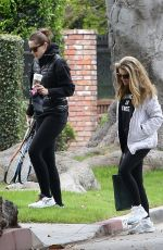 KATHERINE and CHRISTINA SCHWARZENEGGER and MARIA SHRIVER Out in Los Angeles 04/12/2021
