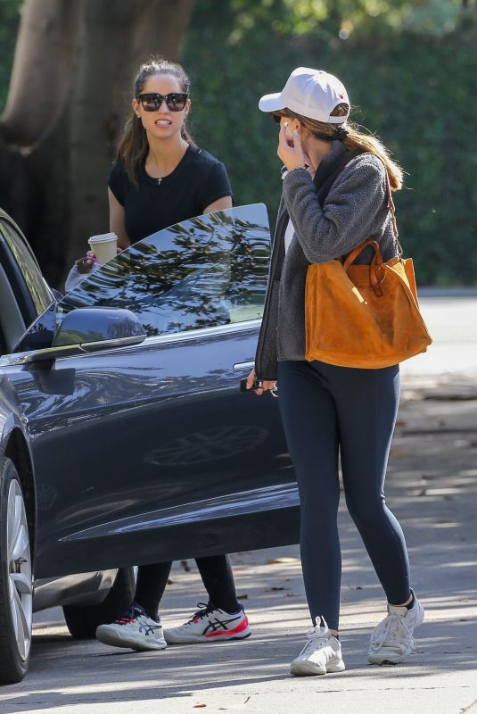 KATHERINE and CHRISTINA SCHWARZENEGGER Arrives at a Tennis Match in Brentwood 04/26/2021