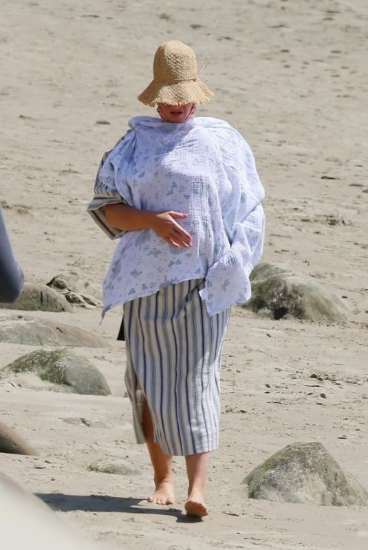 KATY PERRY Out on the Beach in Santa Barbara 04/03/2021
