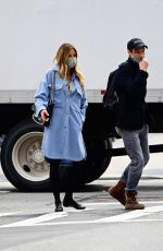 KELLY BENSIMON and Nick Stefanov Out in New York 04/06/2021