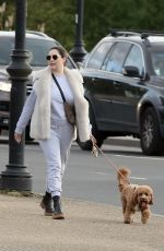 KELLY BROOK and Jeremy Parisi Out with Their Dog in London 04/14/2021