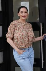 KELLY BROOK Arrives at Heart Radio in London 04/29/2021